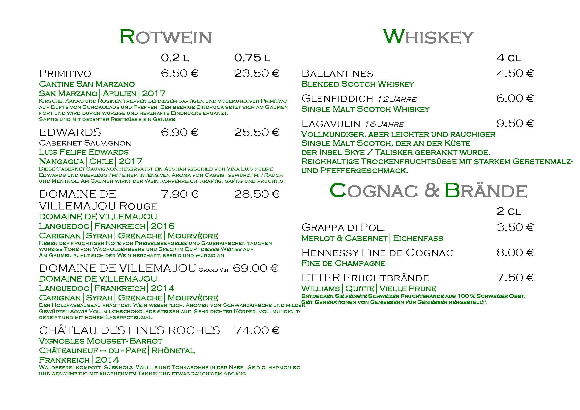 Getränkekarte Gerichtsschänke Taucha_Seite_5