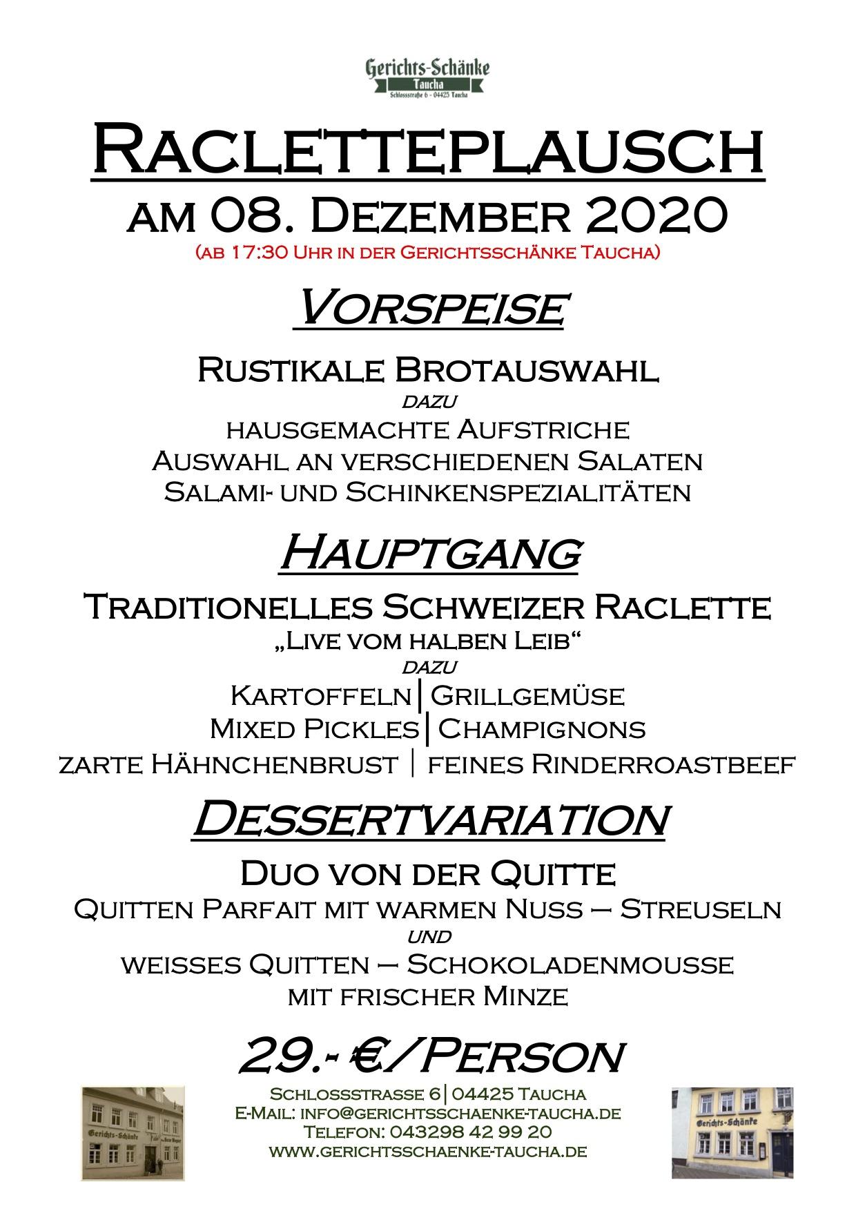 08.12.2020 Racletteplausch