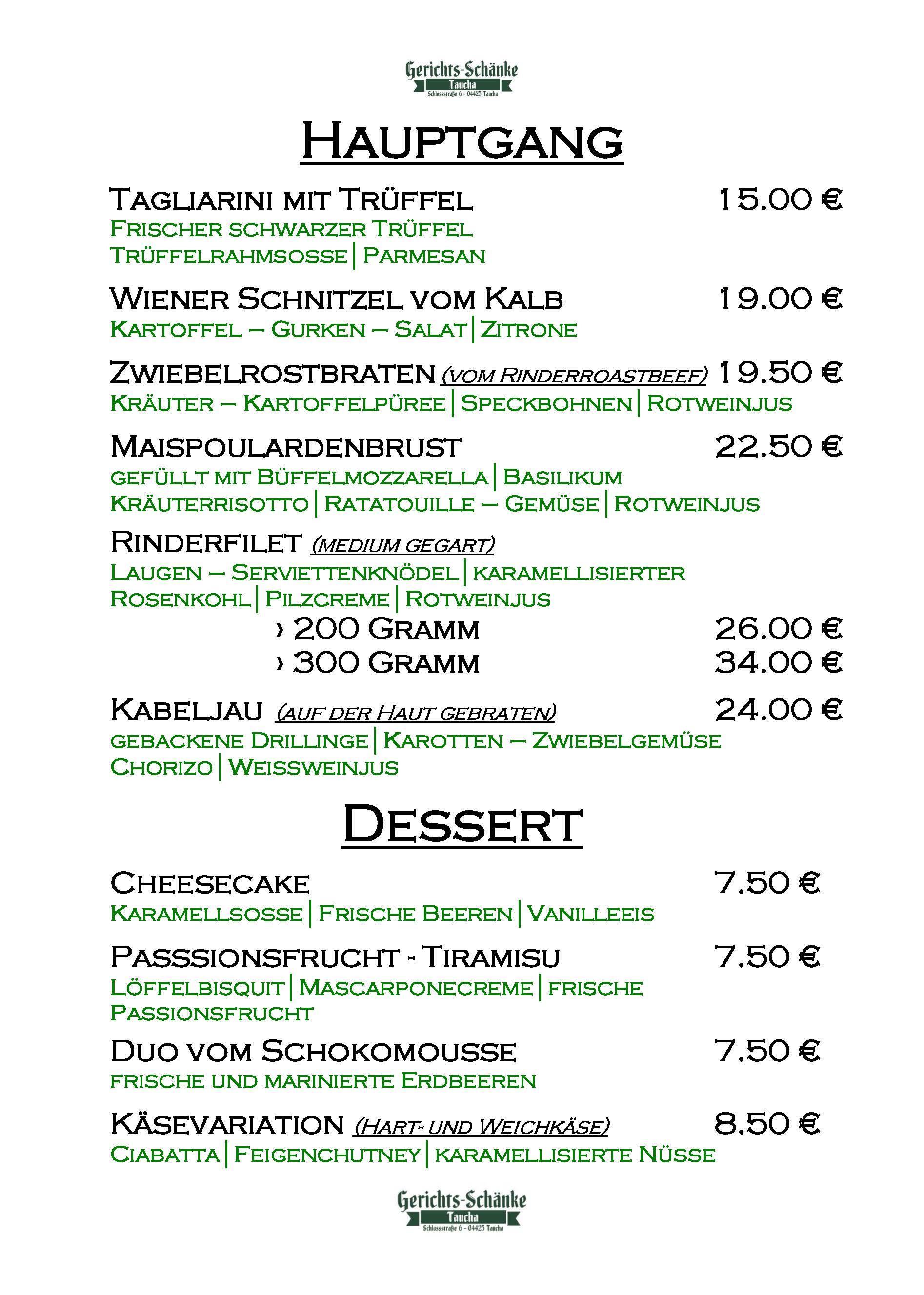 Menükarte Gerichtsschänke Taucha_Seite_2