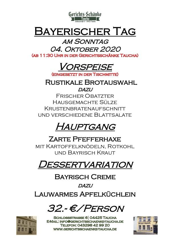 04.10.2020 Bayerischer Tag