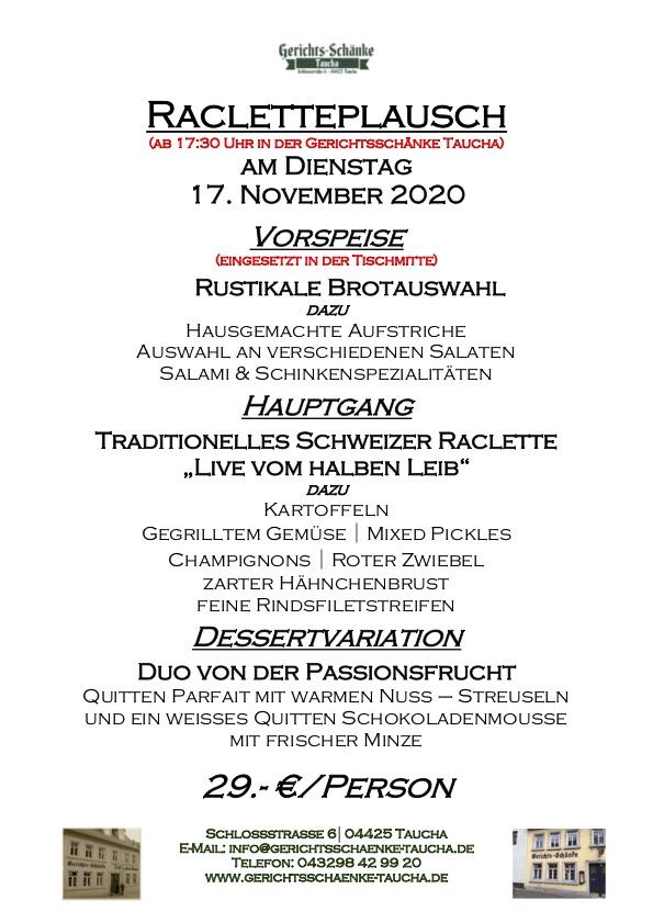 17.11.2020 Racletteplausch