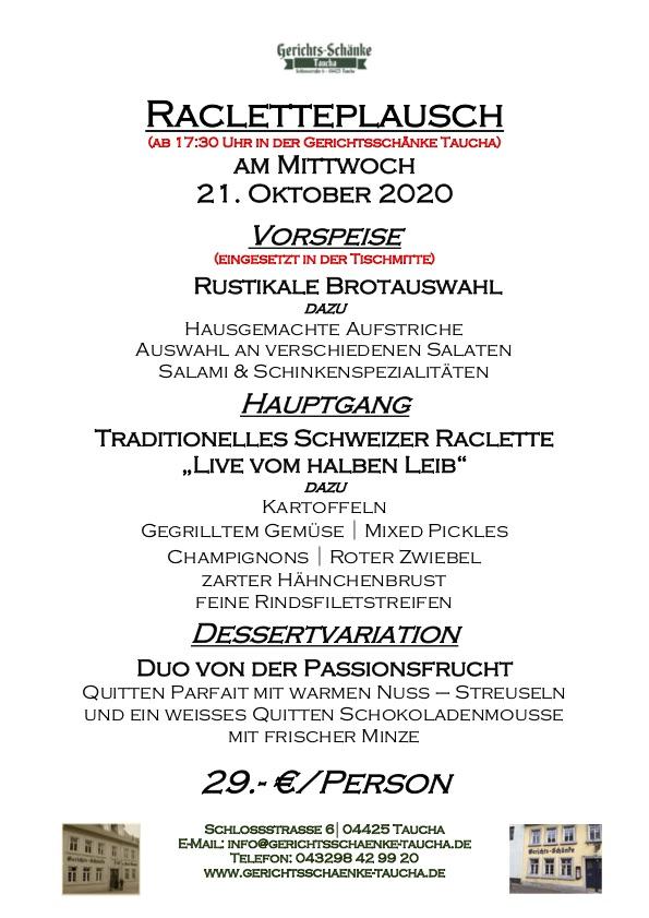 21.10.2020 Racletteplausch