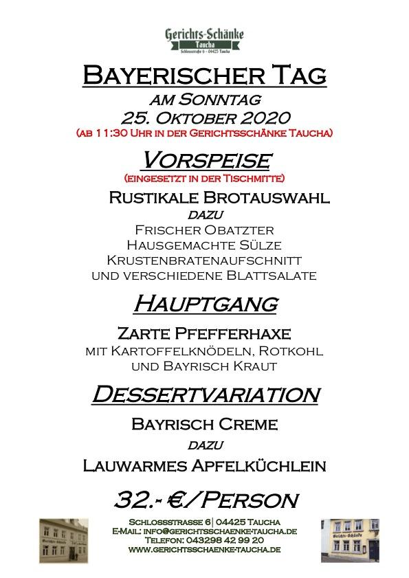 25.10.2020 Bayerischer Tag